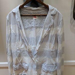 Lilka Anthropologie jersey blazer
